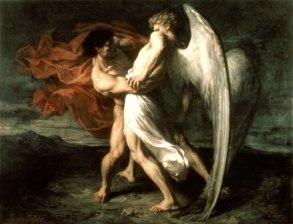 Alexander Louis Leloir, Jacob Wrestling With the Angel, 1865